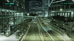 CCTV camera in Hong Kong highway. Stock Footage