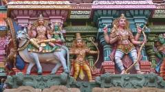 Meenakshi Temple in Mudarai, India Stock Footage