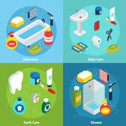 Personal Hygiene concept - stock illustration