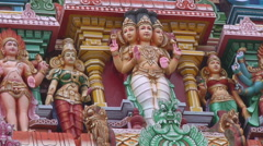 Meenakshi Temple in Mudarai, India Stock Footage