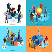 Business People Icons Set Stock Illustration