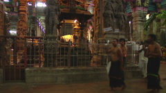People Inside Meenkashi Temple Stock Footage
