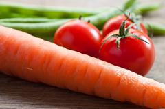 Group of fresh vegetables Stock Photos