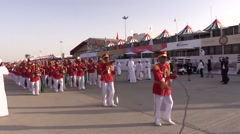 Jebel Ali United Arab Emirates, 10th November 2015, Music Orchestra At Dubai Air Stock Footage