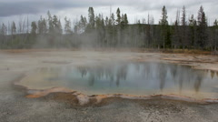 Time lapse Emerald Pool, Yellowstone National Park, Wyoming Stock Footage