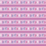 Background with circles in various shades of purple Stock Illustration