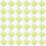 Pattern with alternating diamonds white and green - stock illustration