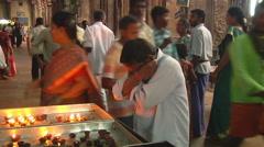 Man Praying in Meenakshi Hindu Temple Stock Footage