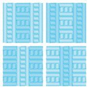 Set of four patterns that simulate knitting blue light and dark - stock illustration