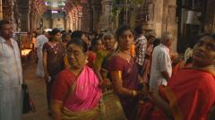 Women in Meenakshi Temple in Mudarai - stock footage