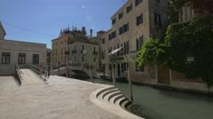 Bridges over Rio de la Salute, Venice Stock Footage