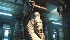 Sculptures Inside Meenakshi Temple Stock Footage