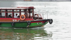 Stock Video Footage of Close up of a water taxi. Marina Bay, Singapore.