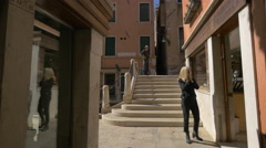 Fondamenta cà Balà seen on a sunny day in Venice Stock Footage