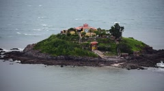 A distant view at Hon Ba, an islet in Vung Tau Stock Footage