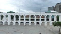 Lapa Archs in Rio de Janeiro, Brazil Stock Footage