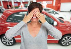 Car dealer. - stock photo