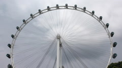 The Singapore Flyer, wide shot - stock footage