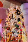 Statue of goddess durga, decorated during navratri pooja Stock Photos