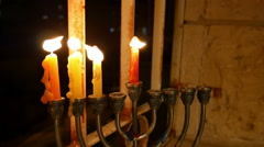 Hanukkah Candles - stock footage