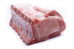 Fresh raw meat isolated on white background Stock Photos