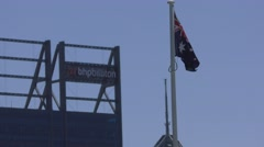 BHP Biliton and Flag Australia Stock Footage
