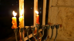 Hanukkah Candles Stock Footage