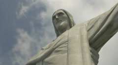 Close up of Christ the Redeemer statue Corcovado Stock Footage