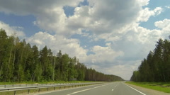 Clouds over the road. The path from Kuyar village  Stock Footage