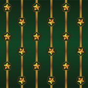 Seamless vector Cristmas pattern with stripes and stars Stock Illustration
