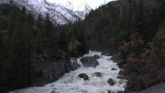 Fall River: River Flowing With Mountain Snow  Natural Sounds 1080HD Stock Footage