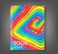 Book route of rainbow background, drawing by hand vector Stock Illustration