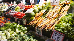 Pike place market produce Stock Footage