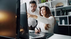 Designers Working With Graphics Tablet - stock footage