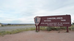 Canyonlands National Park Entrance - stock footage