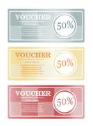 Voucher for discount in the store. Coupon code concept - stock illustration