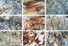 Rock texture set Stock Photos