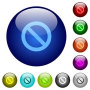 Stock Illustration of Color blocked glass buttons