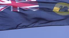 Flag Western Australia in wind Stock Footage