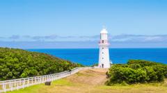 Cape Otway lighthouse, Australia Stock Footage