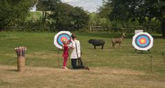 Archery lesson Stock Photos