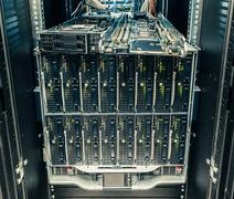 Faulty blade server Stock Photos