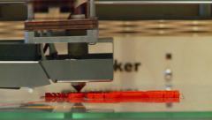 3D printing close Stock Footage