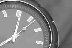 Macro View of a Metal Wrist Watch Stock Photos