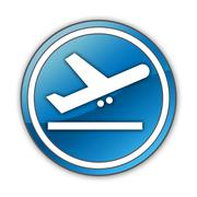 Icon, Button, Pictogram Airport Departures Stock Illustration