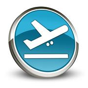 Stock Illustration of Icon, Button, Pictogram Airport Departures