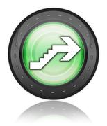 Icon, Button, Pictogram Upstairs Stock Illustration