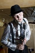 Retro gangster singer Kuvituskuvat