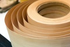 Stock Photo of Veneer in a roll