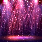 Stage spotlights. abstract festive background Stock Illustration